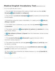 Medical English Vocabulary EnglishClub pdf - Medical English