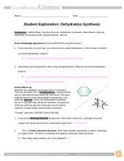 03 - Dehydration Synthesis Gizmo
