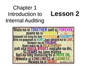 Chap01 Intro to Internal Auditing - Lesson2