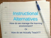 Lesson Instructional Alternatives 2012(1)