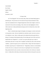 brave new world alternate ending essay jenna franklin jenna  4 pages role of women gatsby essay