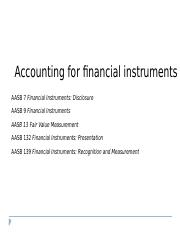 Lecture 9 financial instruments