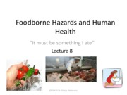 Lecture 8 Food hazards
