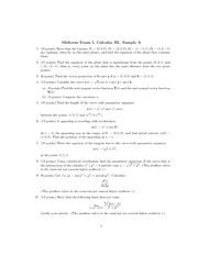 Exam 2 - Fall - MATH 110 NAME EXAM II STUDENT NUMBER Fall 2014 ...