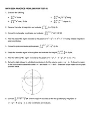 Math 2224 Test 2 Review