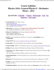 Course Syllabus Physics 114A