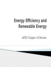 Energy Efficiency and Renewable Energy Review (2)