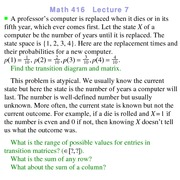 Lecture 5 on Probability and Statistics