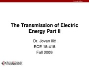2009-09-15 The Transmission of Electric Energy Part II