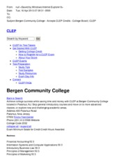 Bergen Community College - Accepts CLEP Credits - College Board  CLEP