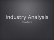 Industry and Competitor Analysis ICS