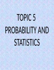 Topic 5 Probability.pptx
