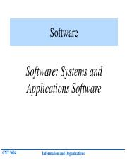 Lecture 4 Software Systems