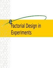 Factorial Design in Experiments (1).ppt