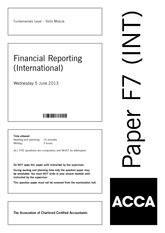 acca exam paper jun 2008 Past exams for the international variant of paper p7 advanced audit and assurance, part of the acca qualification.