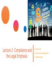 Lecture 2 - Compliance and the Legal Emphasis BUS381 SFU (1).pptx