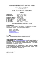 Acc 208-03 - Managerial Accounting Fall 2012 Syllabus - Foley(4)