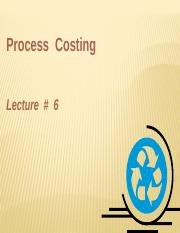 Lecture 6MA-Process Costing