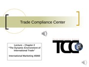 Chapter 2 Lecture - Trade Compliance Center