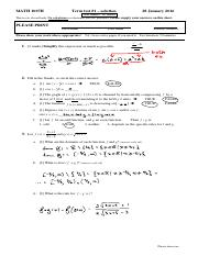 MATH 1007H - term test#1 - 20160128 - solution