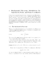 6 Fundemental theorems, substitution, integration by parts, and polar coordinates notes
