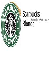 Starbucks Blonde Executive Summary Presentation.pptx
