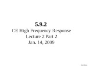 L2_2-5.9.2 Analysis of the CE High Frequency Response L2_2