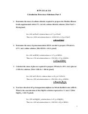 Calculation Exercises Solutions_Part 1