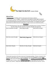 The_Night_the_Bed_Fell__by_James_Thurber_Worksheet_2017.docx