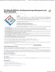 The Beneish M-Score_ Identifying Earnings Management And Short Candidates _ Stockopedia Features