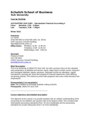 Actg 3120S Course Outline -Winter 2013 - L   Farrell