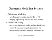 Geometri Modeling Systems