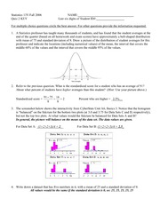 quiz 2 solutions on Statistics