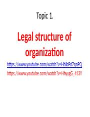 Topic1. Legal structure .pptx
