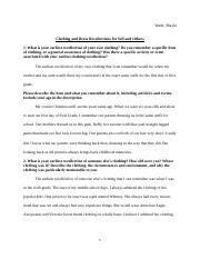 Clothing and Dress Recollections Assignment Template(2)(1).docx