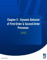 Chapter 5 - First-Order & Second-Order Models.pptx