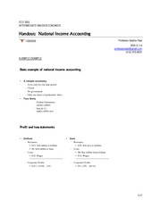 Lecture 3 handoutHandout National Income Accounting