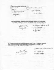 Math Law of Sine and Cosine