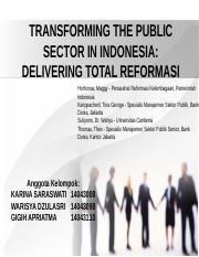 TRANSFORMING THE PUBLIC SECTOR IN INDONESIA.ppt