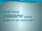 Small Group Presentation Lecture Slides