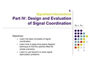 Signalized Intersection - Part IV Signal Coordination