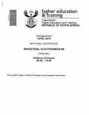 industrial electronics n6 apr2011qp pdf i w m e higher rh coursehero com Industrial Electronics Technician Industrial Electronic Supply INC