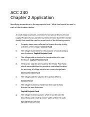 Chapter 2 application