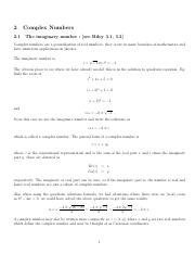 Chapter2-ComplexNumbers