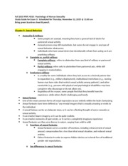 Fall 2015 PSYC 4310 Study Guide for Exam 3