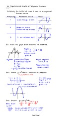 3.4 Equations and Graphs of Polynomial Functions