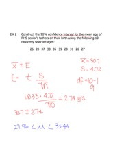 mean and confidence interval notes