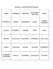 Nutrient Bingo tut playing sheet-2