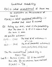20 Conditional probability