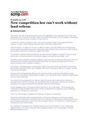 Competition law in HK